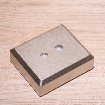 Base Aluminium luce bianca - 2 led