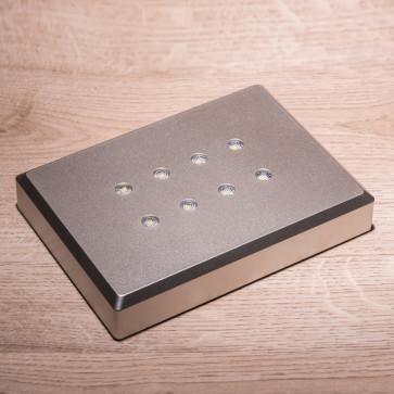Base Aluminium luce bianca - 8 led