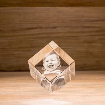 Cubo 45° Crystal CC60 2 Soggetti 3D