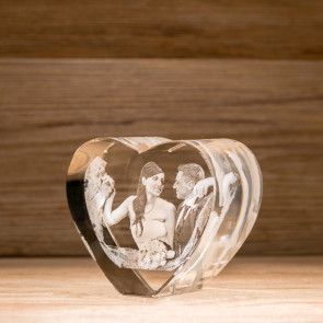Cuore verticale Crystal FGCVL 3D