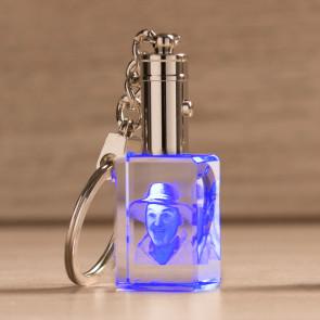 Portachiavi Crystal 3D Led Blu