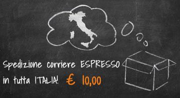 Spedizione con corriere ESPRESSO in tutta ITALIA a 10€