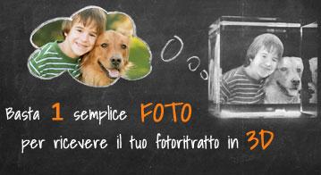 Basta 1 semplice foto per ricevere il tuo foto ritratto in 3D